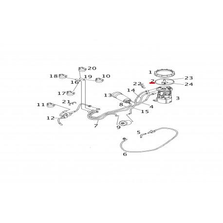 Λάστιχο στεγανοποίησης αντλίας καυσίμου γνήσια SMART A4504780012