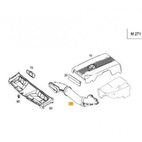Σωλήνας - κολάρο εισαγωγής αέρα Mercedes-Benz Α2710900582