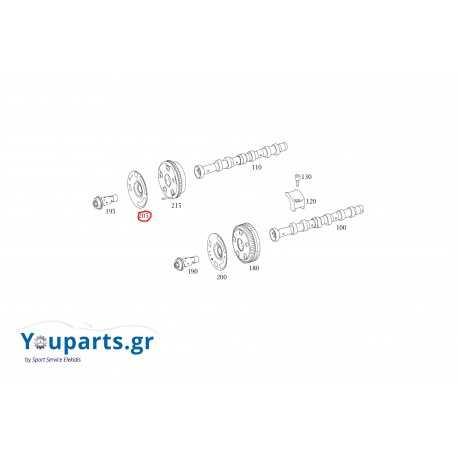 Μεταλλικό καπάκι για γρανάζι εκκεντροφόρου αριστερό Mercedes-Benz A2720510739