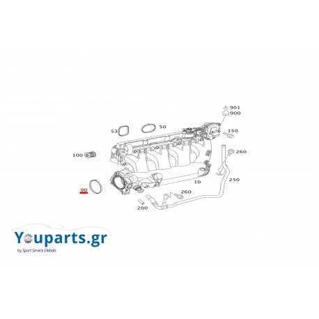 Φλάντζα κλαπέ εισαγωγής Mercedes-benz A2711411080 C-CLASS W203,W204/ CLK W209/ E-CLASS W211,W212/ SLK R171