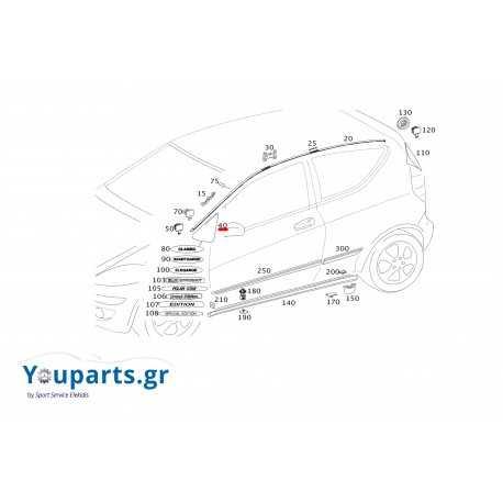 Κάλυμμα καθρέφτη αριστερό γνήσιο Mercedes-benz A1696900187 9051
