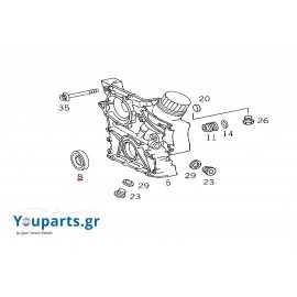 Crankshaft oil seal front Mercedes-Benz A1209970346